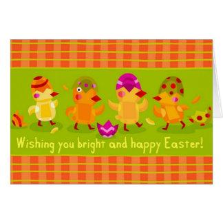 Saludo brillante y feliz de Pascua Tarjetas
