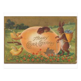 Saludo caluroso 1910 de Pascua del vintage Tarjetas Postales