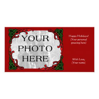 Saludo céltico de la foto del día de fiesta tarjeta fotografica