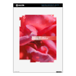 Saludo color de rosa salvaje de la pintura del FEL iPad 3 Pegatinas Skins