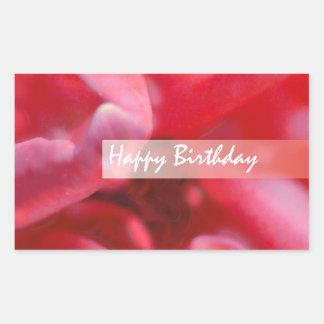 Saludo color de rosa salvaje de la pintura del pegatina rectangular