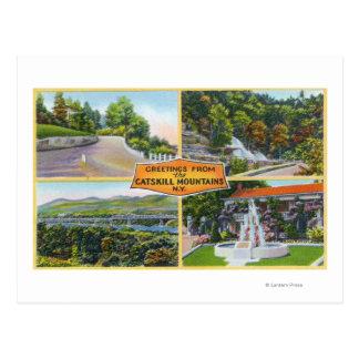 Saludo con de visiónes escénicas postales