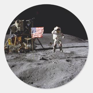 Saludo de Apolo 16 Pegatinas Redondas