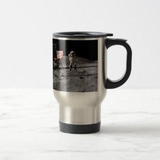 Saludo de Apolo 16 Taza De Viaje