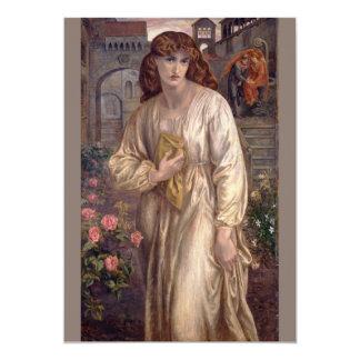 """Saludo de Beatriz de Dante Gabriel Rossetti Invitación 5"""" X 7"""""""