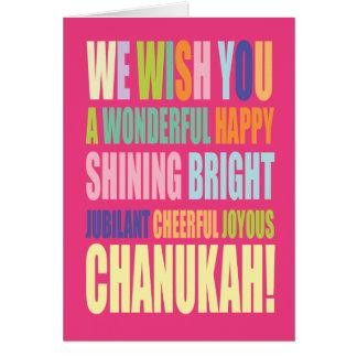 Saludo de Chanukah/Hannukah Tarjeta De Felicitación