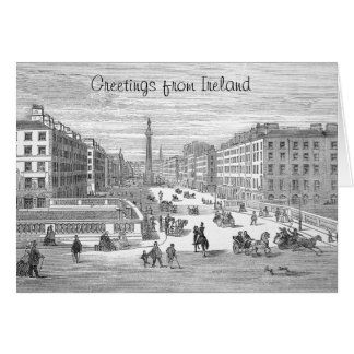 Saludo de Dublín Irlanda del vintage de la calle Felicitaciones