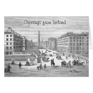 Saludo de Dublín Irlanda del vintage de la calle Tarjeta De Felicitación