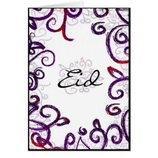 Saludo de Eid - tarjeta de felicitación de Eid