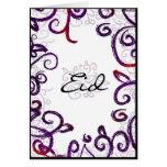 Saludo de Eid - tarjeta de felicitación de Eid Mub