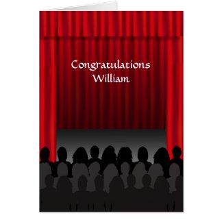 Saludo de encargo de la enhorabuena de la etapa tarjeta de felicitación