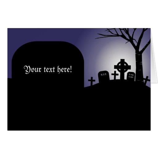 Saludo de encargo de la lápida mortuoria de Hallow Tarjeton