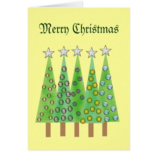 Saludo de encargo de los árboles decorativos de tarjetas