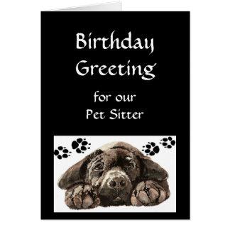 Saludo de encargo del cumpleaños, mascota, canguro tarjeta de felicitación