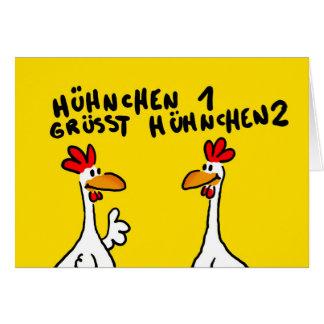 Saludo de gallina tarjeta de felicitación