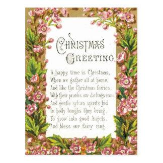 Saludo de hadas del navidad tarjeta postal