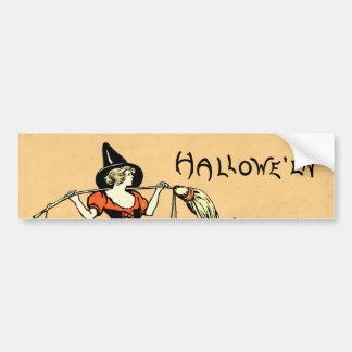 Saludo de Halloween del vintage Pegatina Para Coche