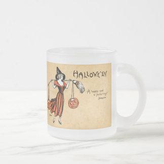 Saludo de Halloween del vintage Taza De Café
