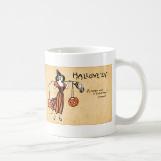 Saludo de Halloween del vintage Tazas