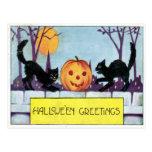Saludo de Hallowe'en Tarjetas Postales