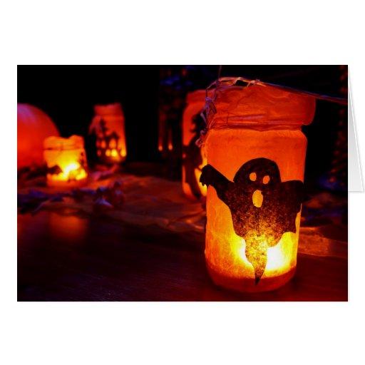 saludo de Halloween Tarjeton