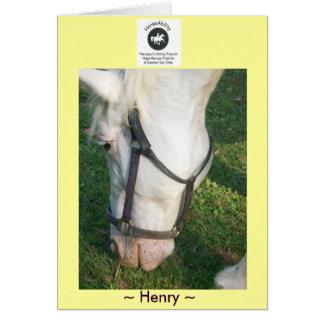Saludo de Henry… Tarjeta De Felicitación