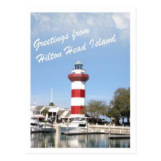 Saludo de Hilton Head Island Tarjeta Postal