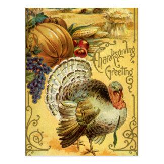 Saludo de la acción de gracias con una Turquía Postales