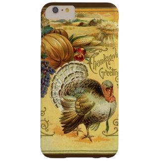 Saludo de la acción de gracias del vintage con una funda barely there iPhone 6 plus