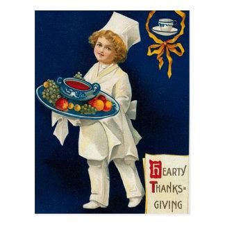 Saludo de la acción de gracias del vintage tarjetas postales