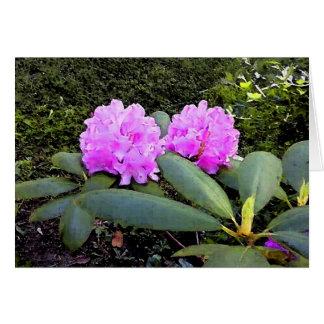 Saludo de la acuarela de Rhododendrums Tarjeta De Felicitación