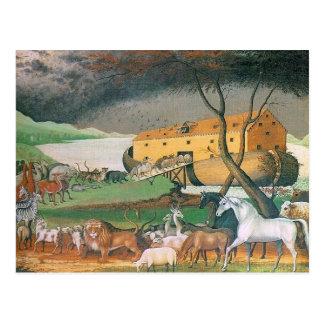 saludo de la arca de los noahs postal