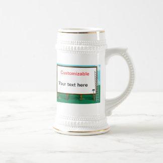 Saludo de la cartelera - personalizable jarra de cerveza