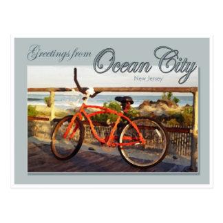 Saludo de la ciudad del océano, NJ Tarjeta Postal