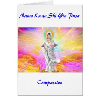Saludo de la compasión tarjeta de felicitación