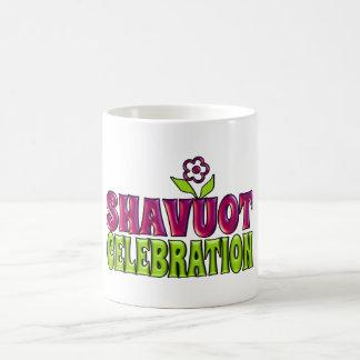 Saludo de la diversión de la celebración de Shavuo Taza De Café