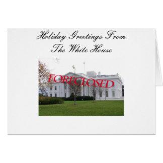 Saludo de la estación de la Casa Blanca excluido Tarjeta De Felicitación