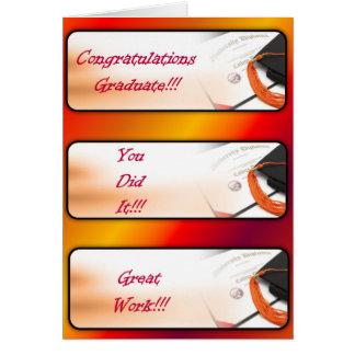 Saludo de la graduación Tarjeta-Rojo Tarjeta De Felicitación