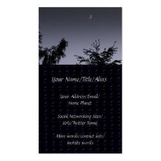 Saludo de la luna tarjetas de visita