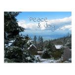 Saludo de la paz y de la alegría del top de la mon tarjetas postales