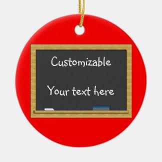 Saludo de la pizarra - personalizable ornamentos de navidad
