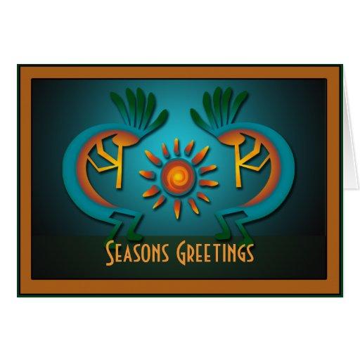 Saludo de la plantilla del navidad de Kokopelli Tarjeta De Felicitación