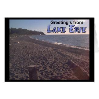 Saludo de la playa del lago Erie Ohio Tarjeta De Felicitación