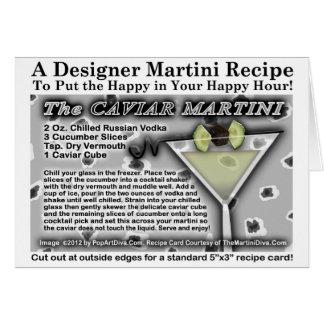 Saludo de la receta de Martini del caviar - Tarjeta De Felicitación