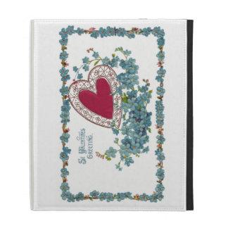 Saludo de la tarjeta del día de San Valentín con e