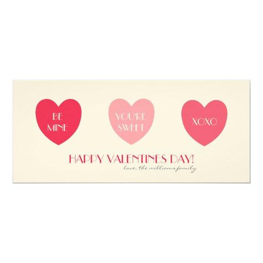 """Saludo de la tarjeta del día de San Valentín de Invitación 4"""" X 9.25"""""""