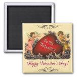 Saludo de la tarjeta del día de San Valentín Iman De Frigorífico