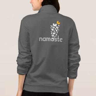 Saludo de las mariposas de la yoga de Namaste Chaquetas Deportivas