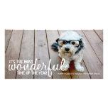 Saludo de moda de la foto del navidad tarjetas fotográficas personalizadas
