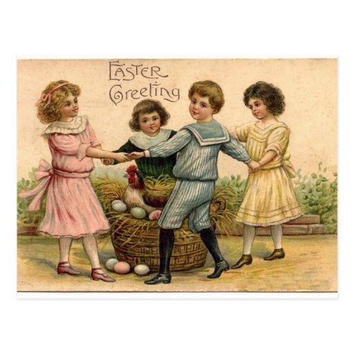 Saludo de Pascua del vintage Tarjeta Postal